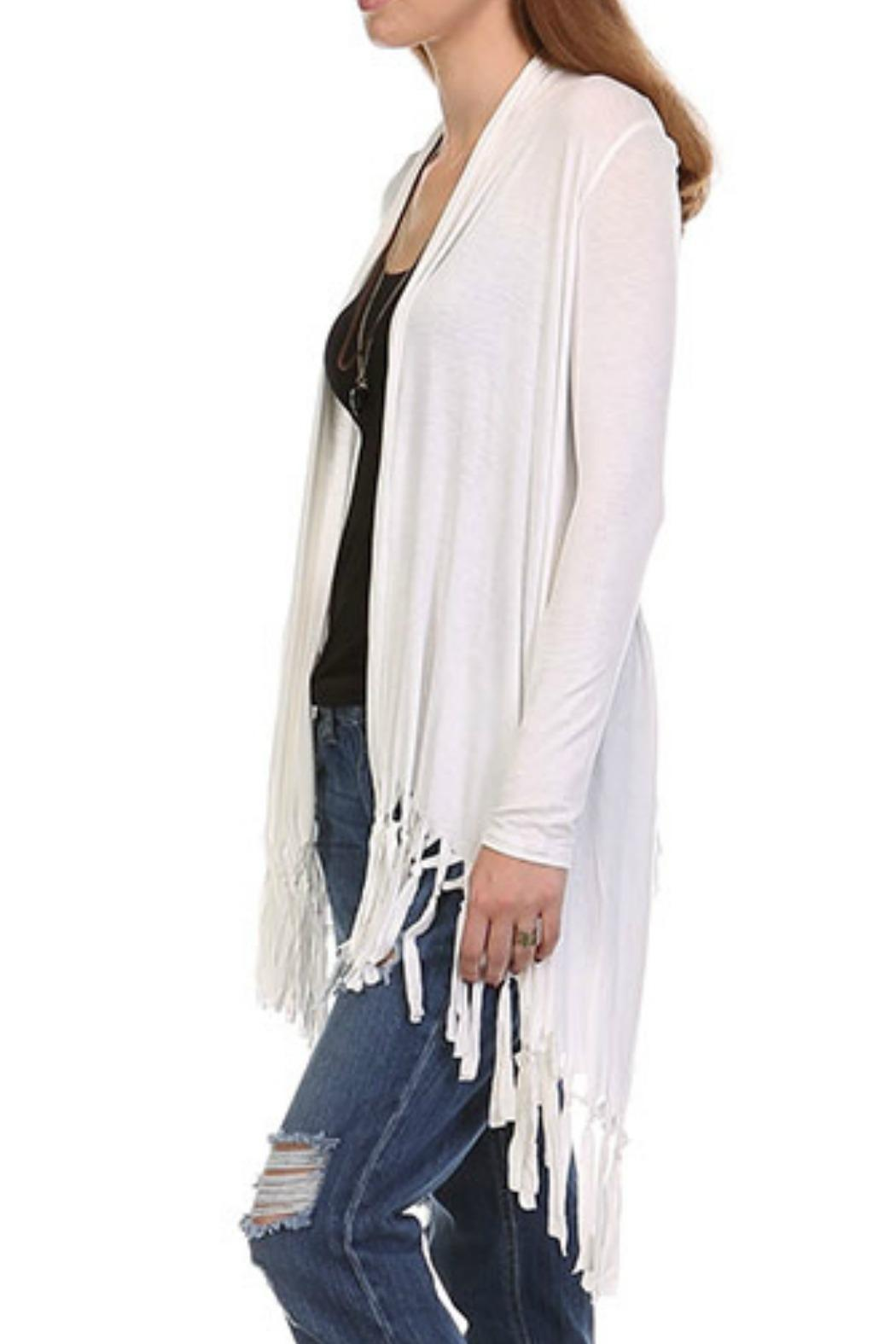 Heart and Hips Fringe Cardigan - Back Cropped Image - Heart And Hips Fringe Cardigan From California By Last Call