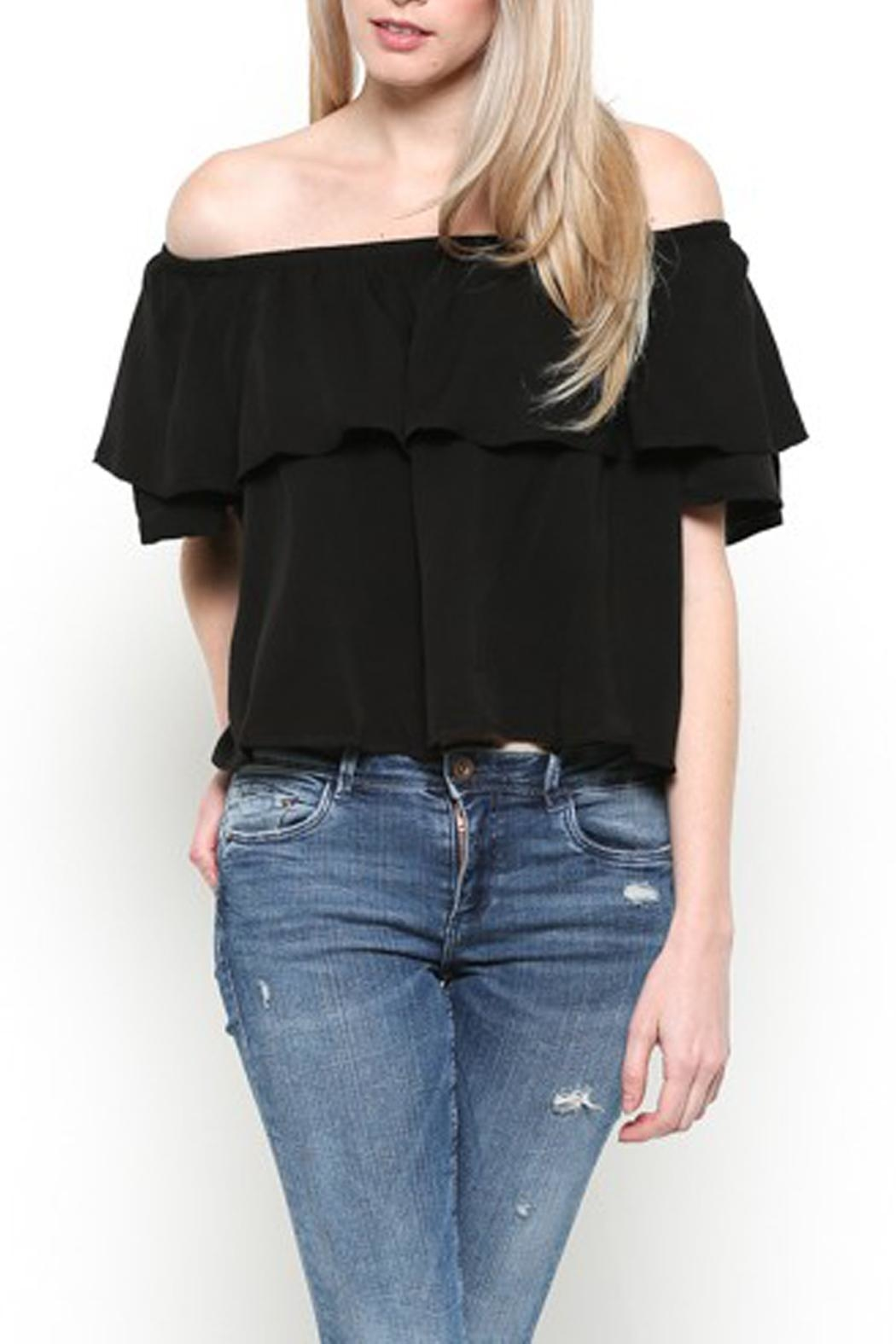 Heart and Hips Off-Shoulder Ruffle Top - Main Image