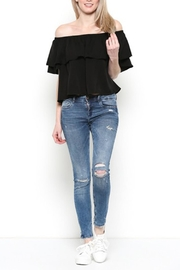 Heart and Hips Off-Shoulder Ruffle Top - Front full body