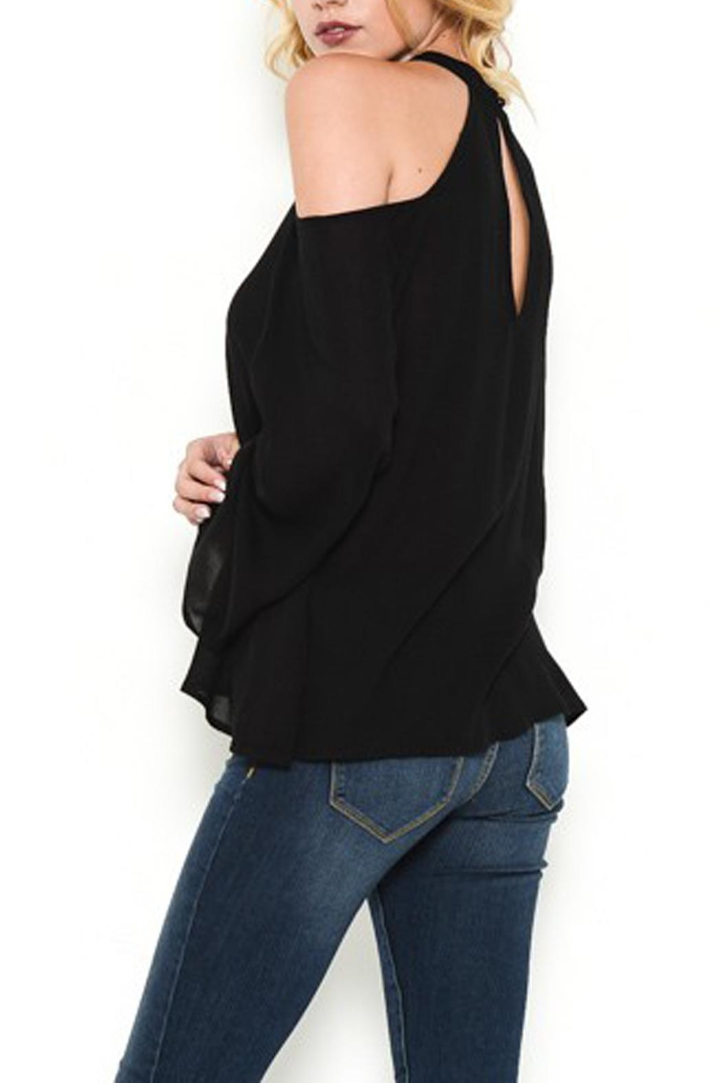 Heart and Hips Open Shoulder Top - Front Full Image