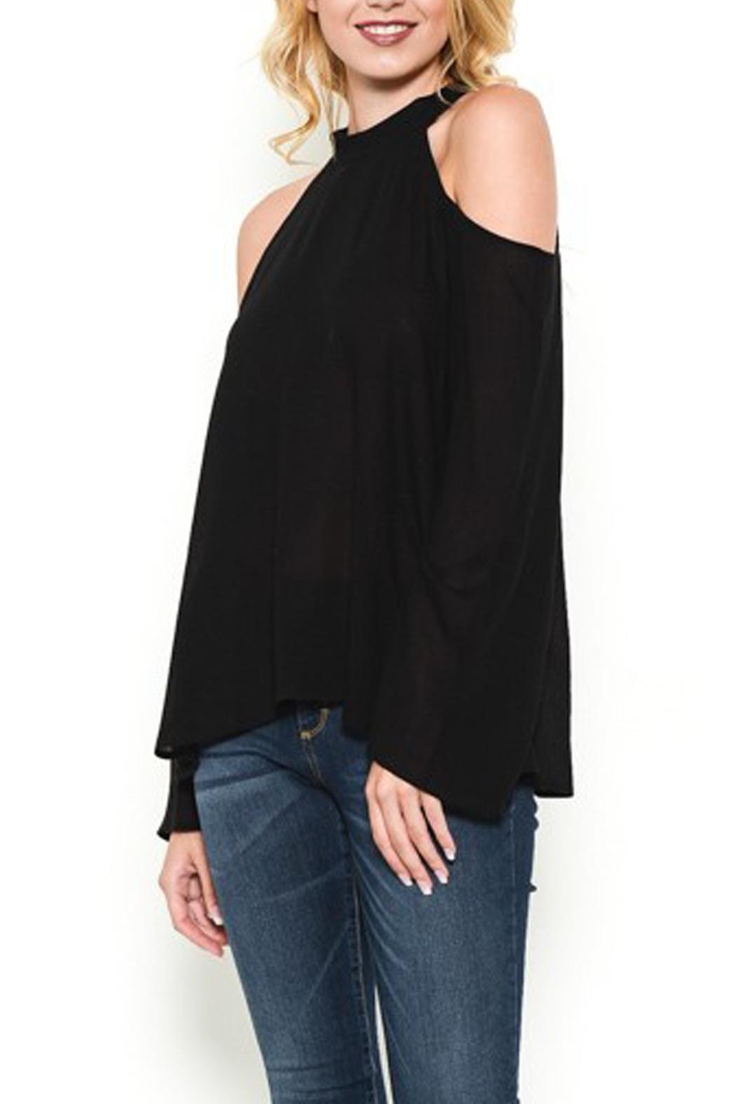 Heart and Hips Open Shoulder Top - Front Cropped Image