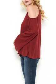 Heart and Hips Open Shoulder Top - Front full body