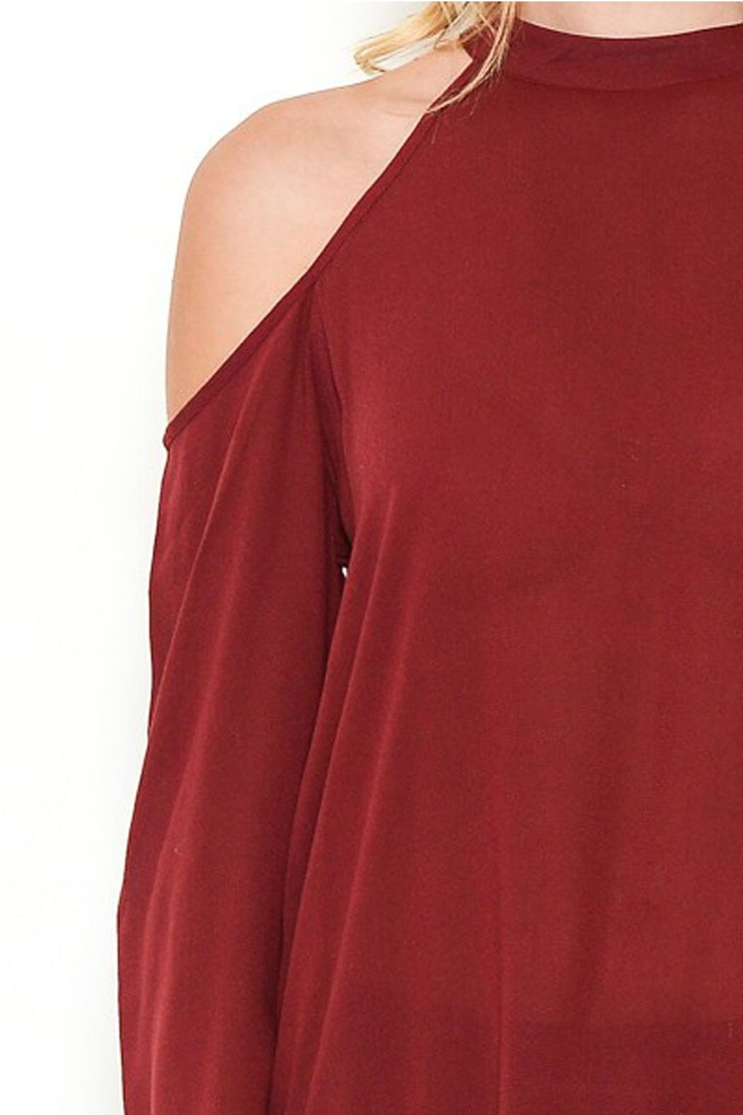Heart and Hips Open Shoulder Top - Back Cropped Image