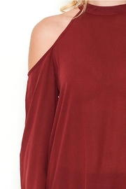 Heart and Hips Open Shoulder Top - Back cropped