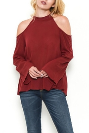 Heart and Hips Open Shoulder Top - Product Mini Image