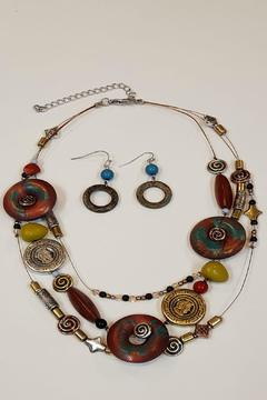 Shoptiques Product: Beaded Necklace And Earrings