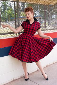 Shoptiques Product: Gingham Dinette Dress