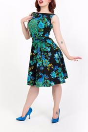 Heart Of Haute Royal Peacock Dress - Front cropped
