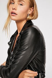 Free People Heartache Moto Jacket - Back cropped