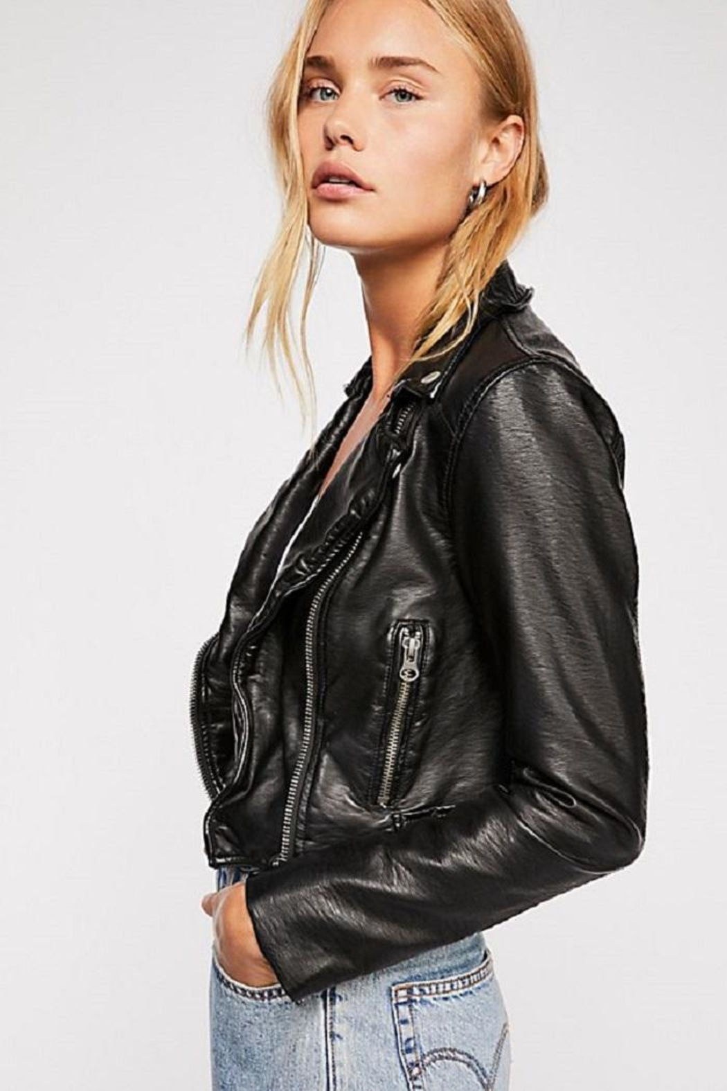 Free People Heartache Moto Jacket - Side Cropped Image