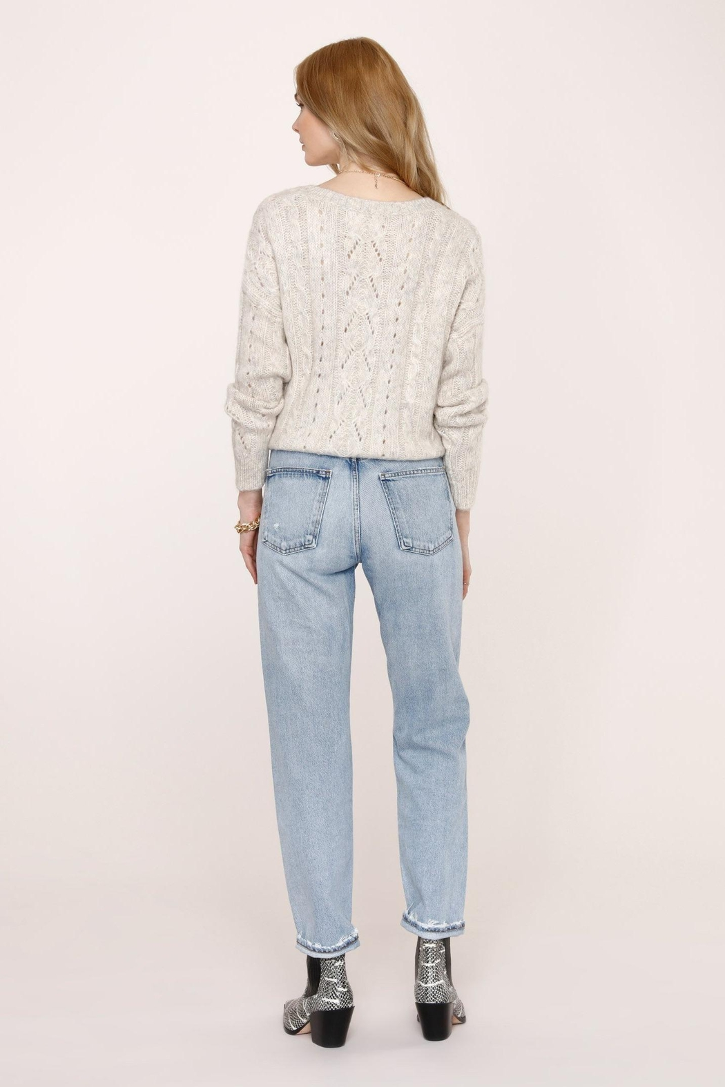 Heartloom Acadia Sweater - Feather - Side Cropped Image