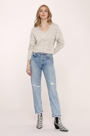 Heartloom Acadia Sweater - Feather - Front cropped