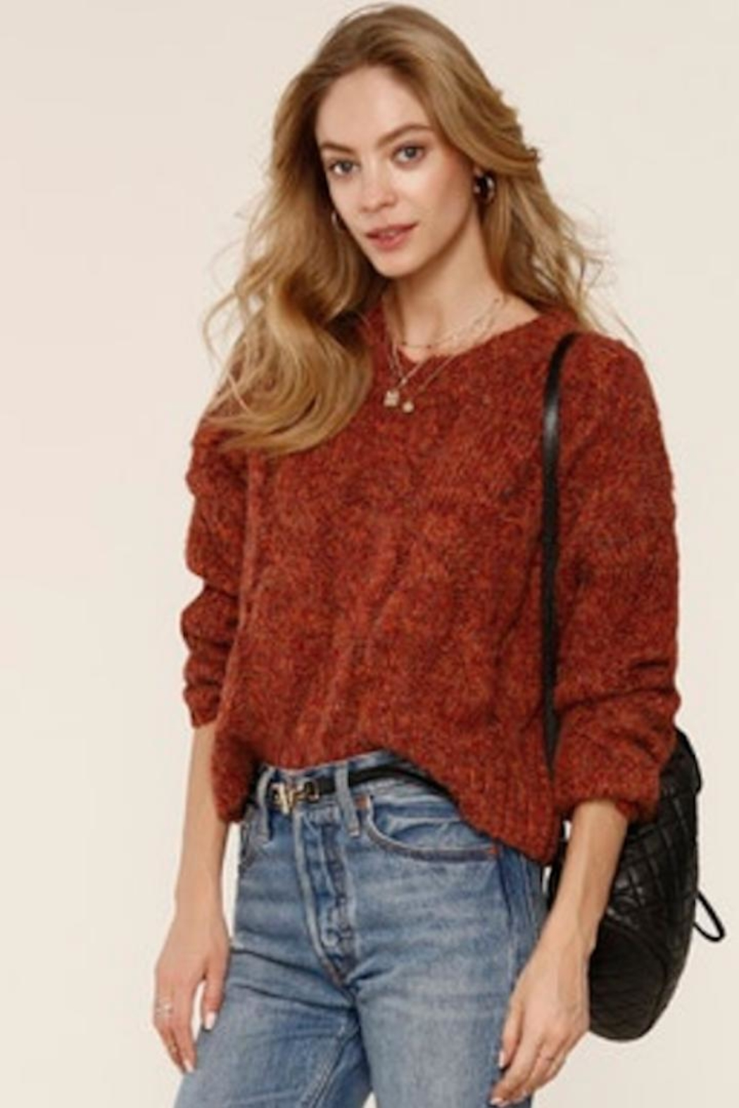 Heartloom Autumn Knit Sweater - Side Cropped Image