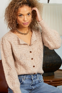 Heartloom Cable Knit Thalia Cardigan - Product List Image