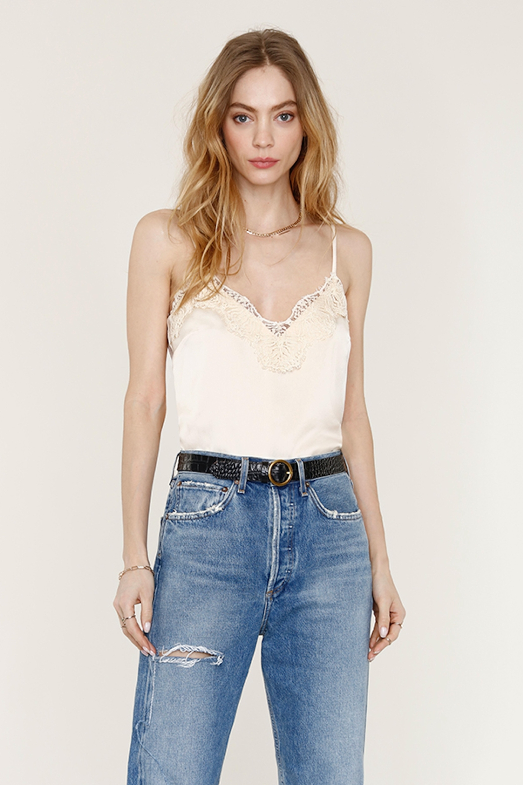 Heartloom Cream Lace Cami - Front Full Image
