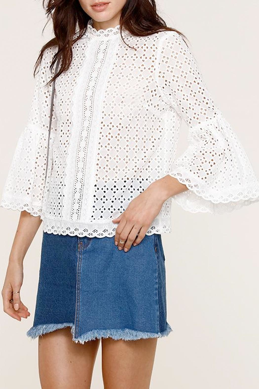 Heartloom Elis Eyelet Top - Front Cropped Image