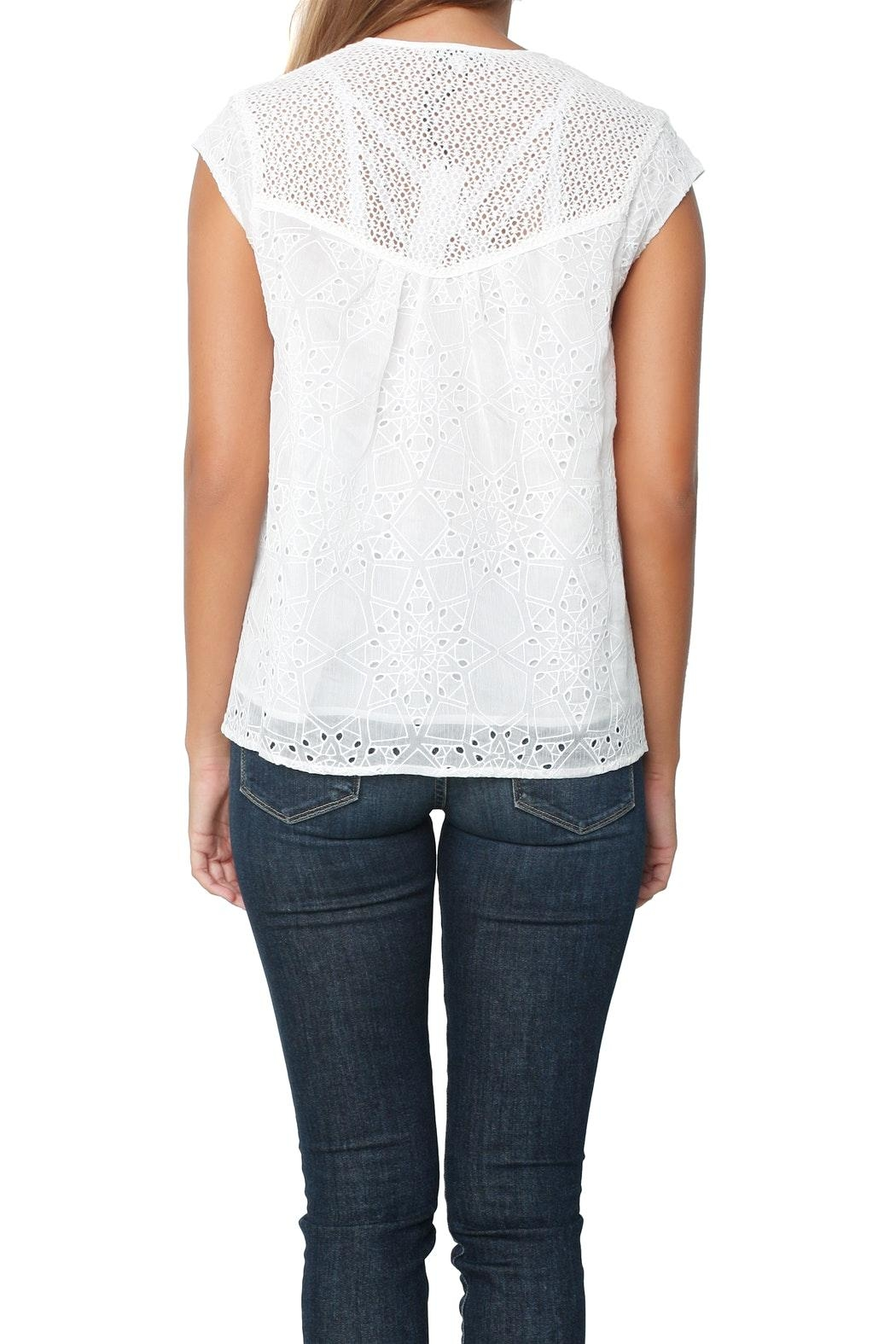 Heartloom Imogen Eyelet Top - Back Cropped Image