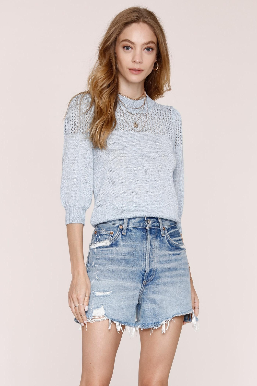 Heartloom Joelle 3/4 Sleeve Sweater - Front Cropped Image