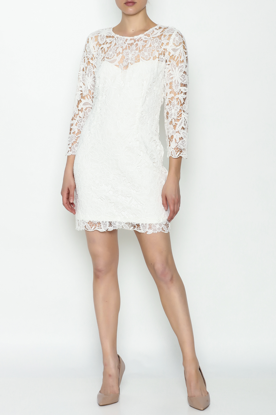 Heartloom Lace Mini Dress - Side Cropped Image