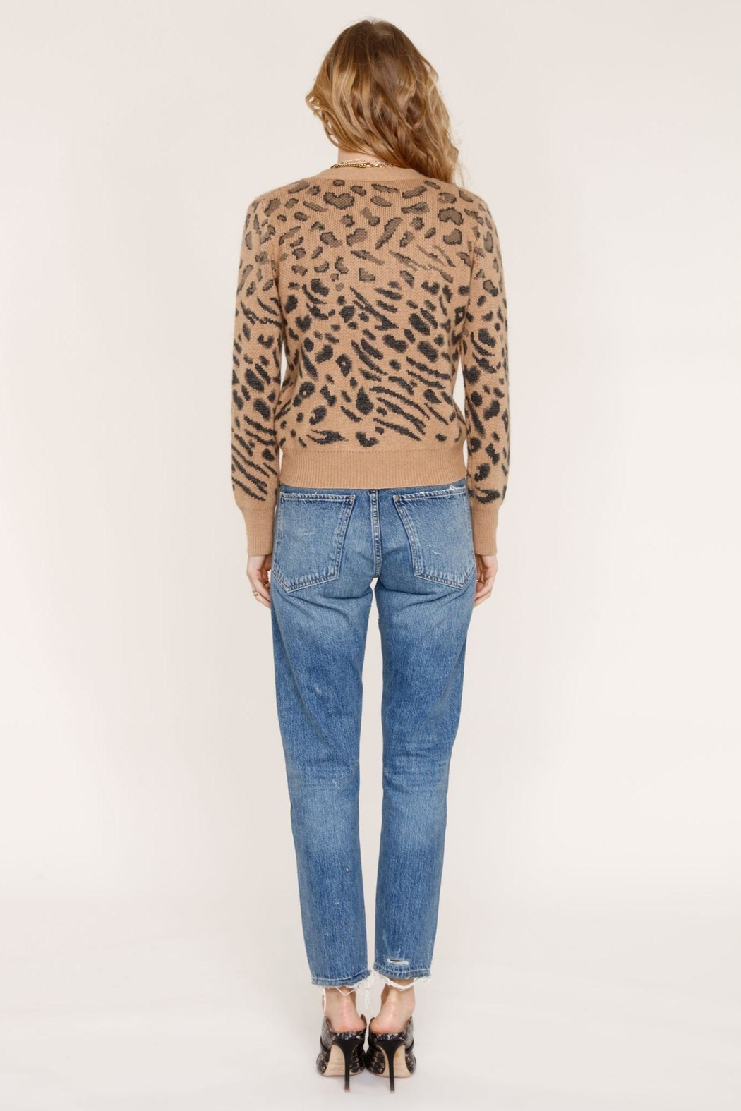 Heartloom Leopard Print Sweater - Side Cropped Image