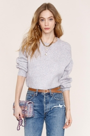 Heartloom Lilac Pointelle Sweater - Product Mini Image