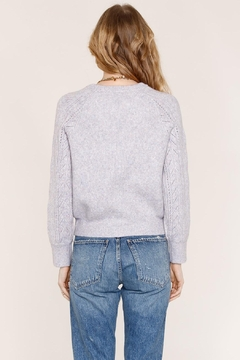 Heartloom Lilac Pointelle Sweater - Alternate List Image