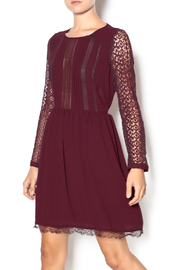 Heartloom Merlot Lace Dress - Product Mini Image