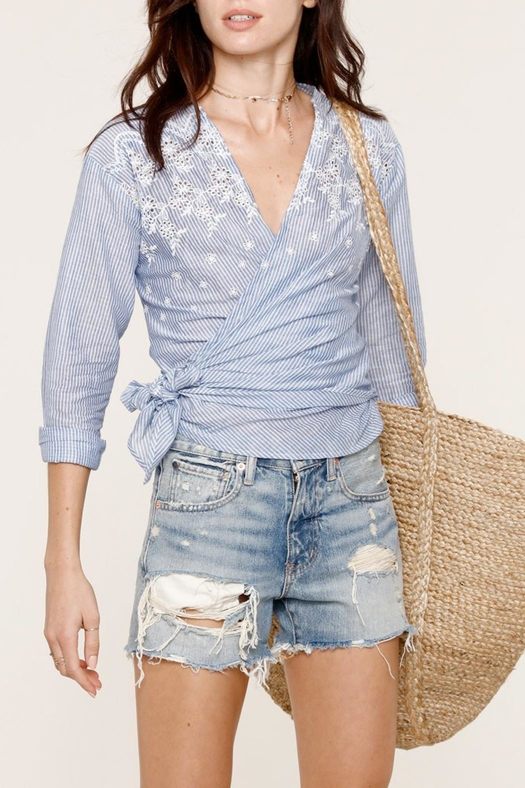 Heartloom Michi Wrap Top - Front Full Image