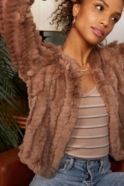 Heartloom Rosa Fur Cropped Jackt - Front cropped