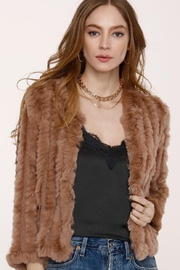 Heartloom Rosa Fur Cropped Jackt - Front full body