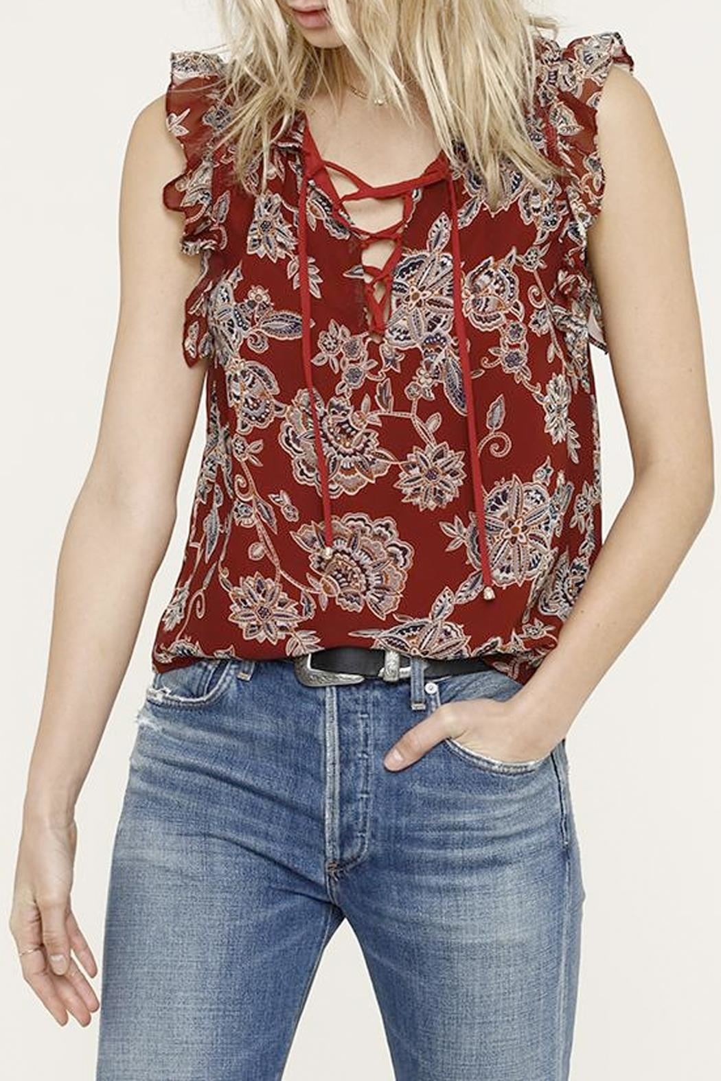 Heartloom Jackie Ruffle Top - Front Cropped Image