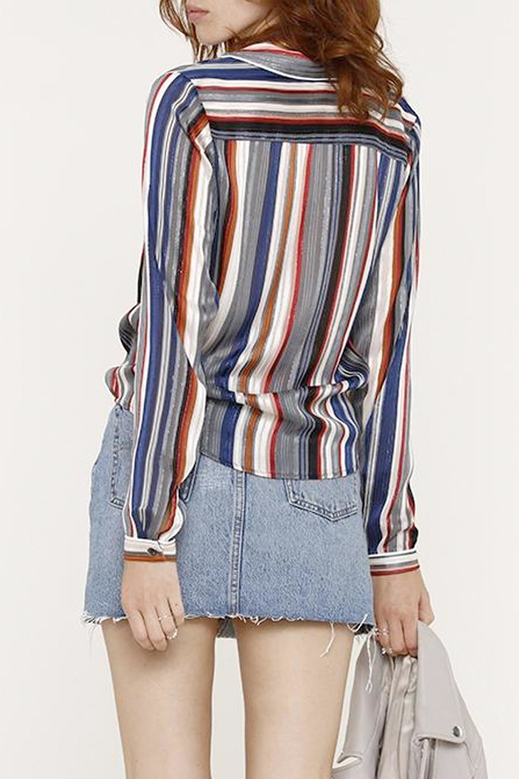 Heartloom Striped Button Up - Front Full Image