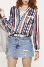 Heartloom Striped Button Up - Front cropped