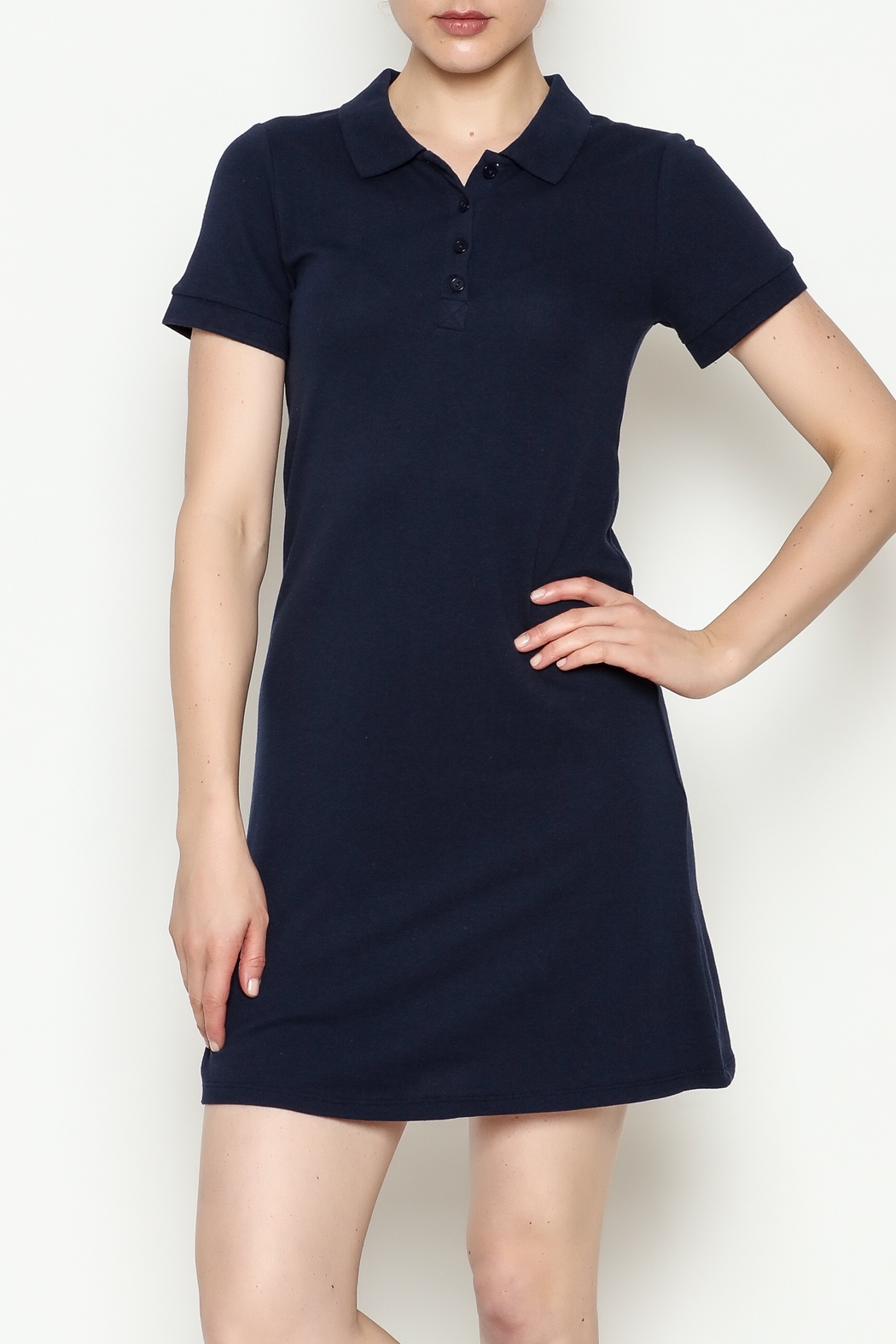 Hearts & Hips Button Down Dress - Front Cropped Image