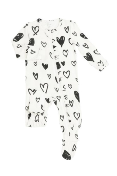 Angel Dear Hearts and Ruffles Footie - Product List Image