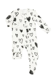 Angel Dear Hearts and Ruffles Footie - Product Mini Image
