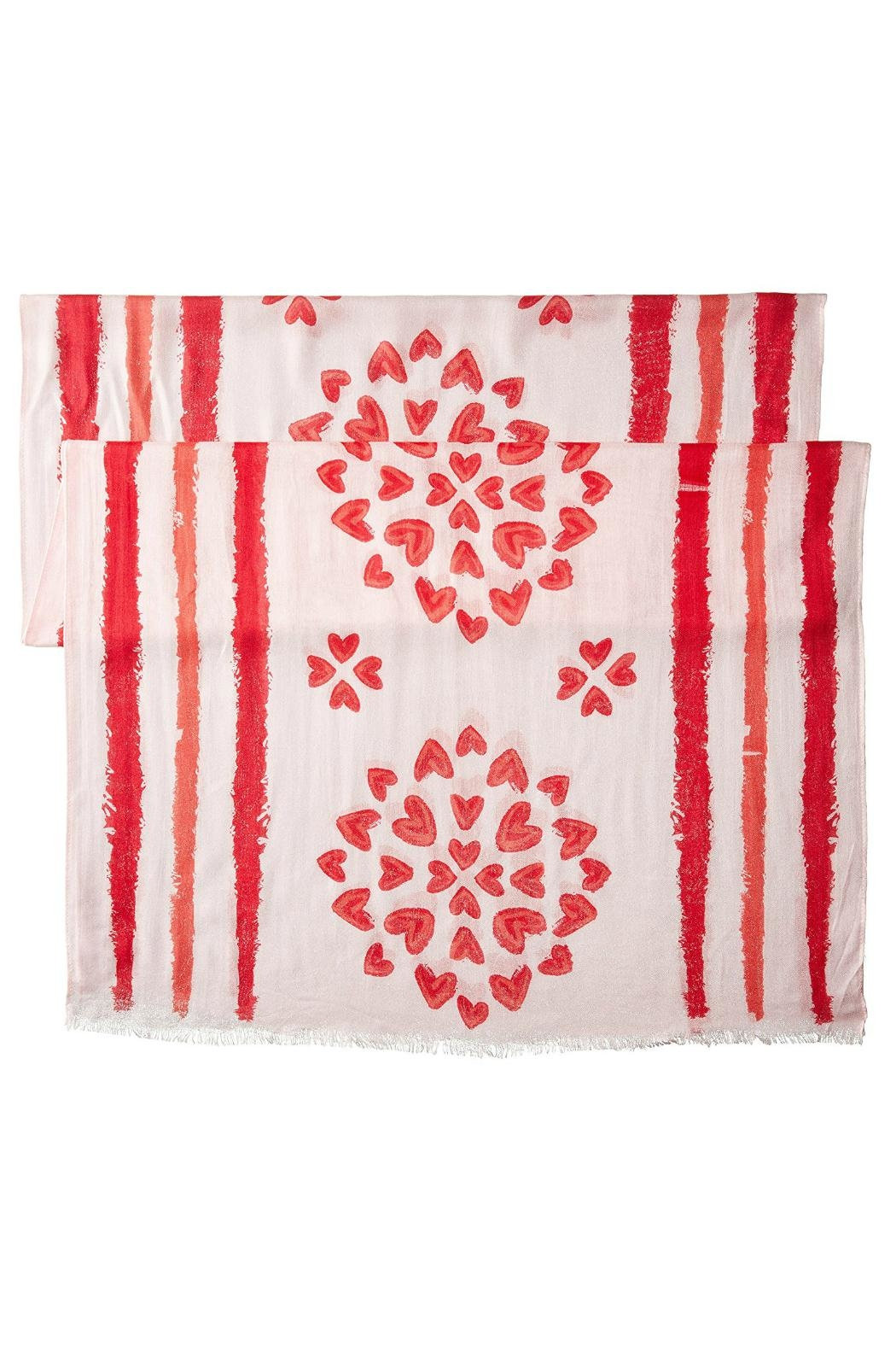 Vera Bradley Hearts Pink Scarf - Front Full Image