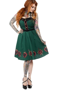 Sourpuss Hearts & Roses Dress - Product List Image
