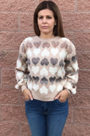 Molly Bracken Hearts Sweater - Product Mini Image