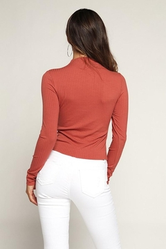 Hearts & Hips High Neck Ribbed Top - Alternate List Image