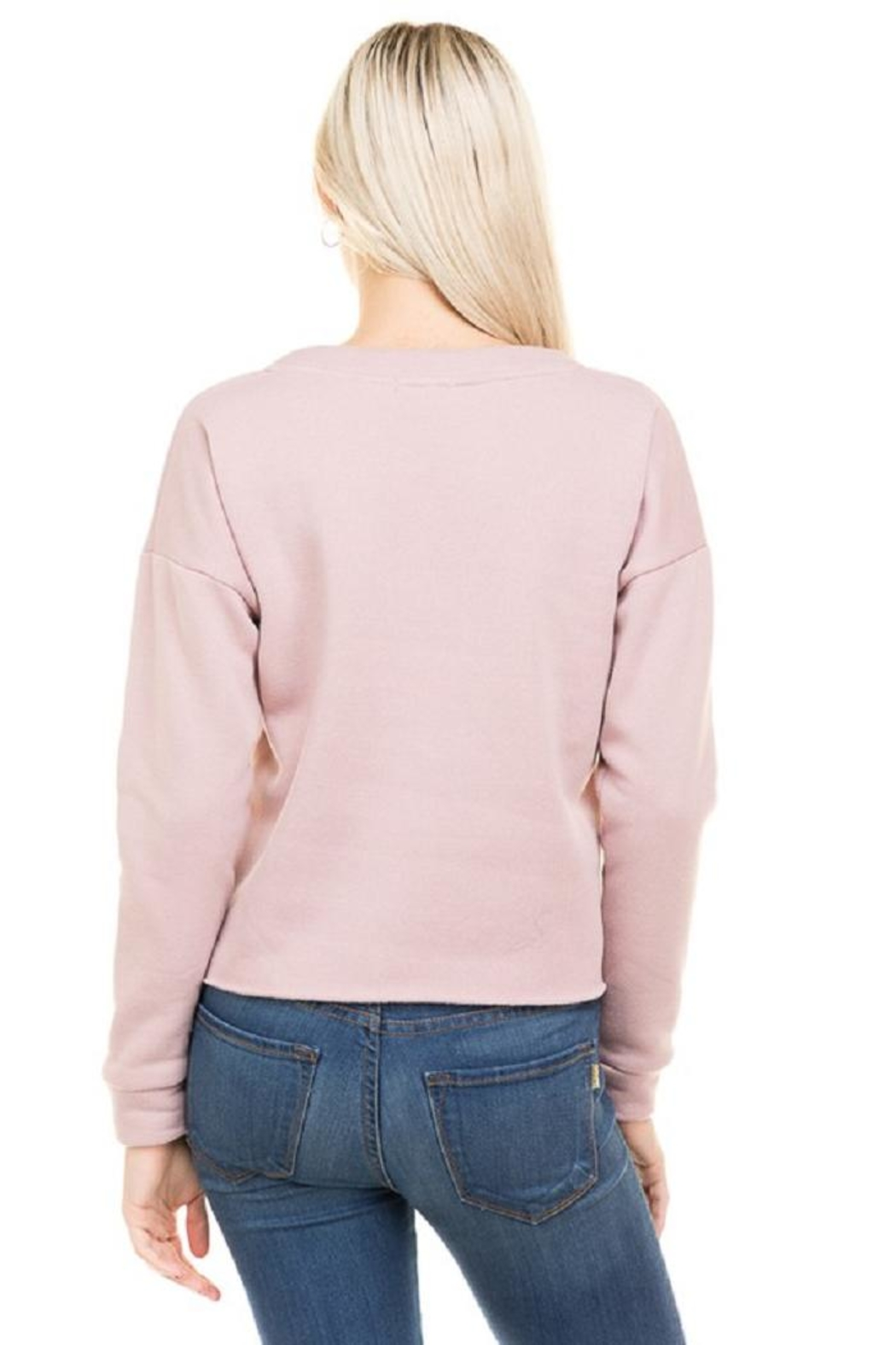 Hearts & Hips Lace Up Sweatshirt - Front Full Image