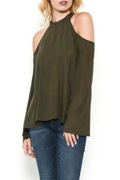 Shoptiques Product: Olive Shoulder Blouse