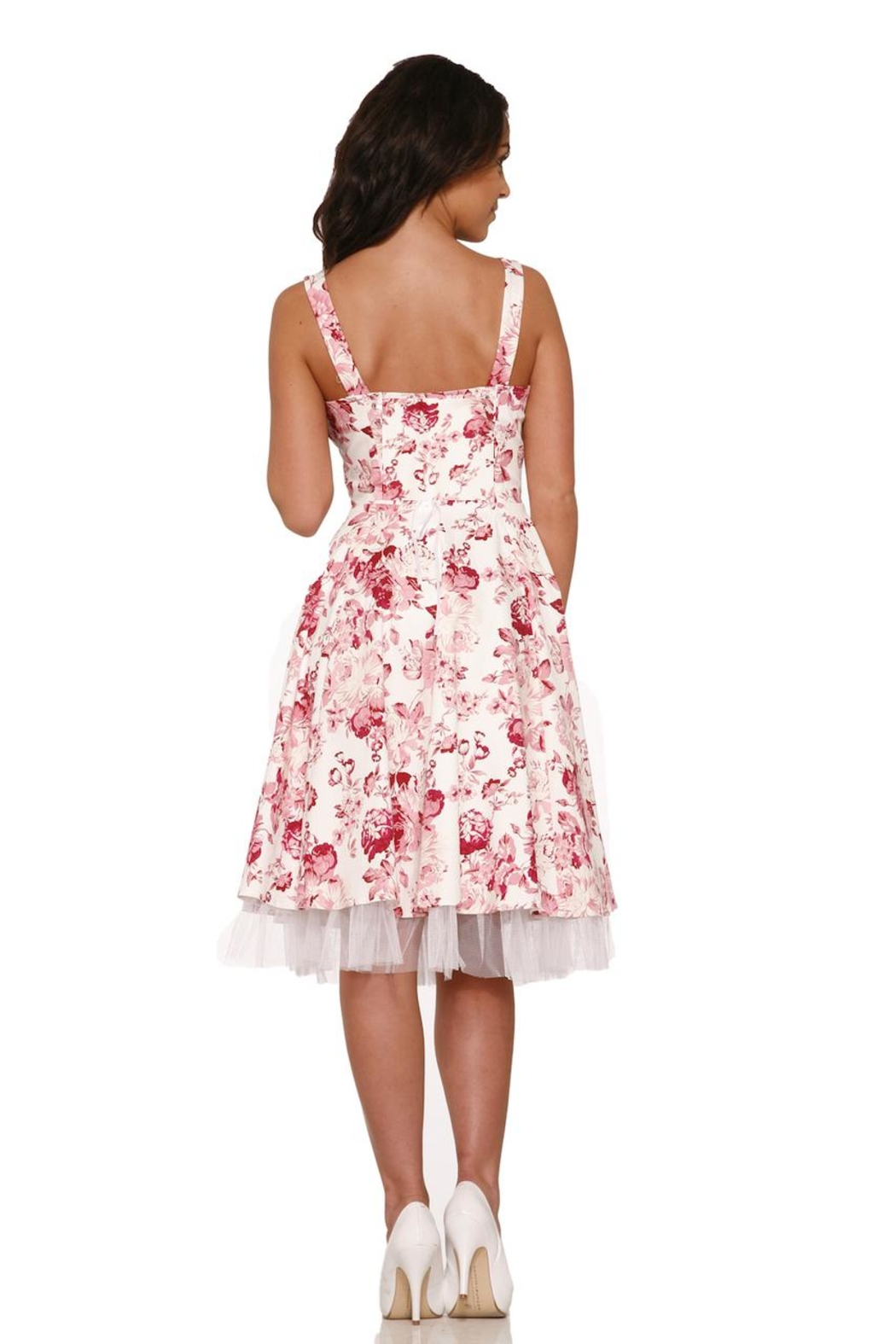 Hearts and Roses Blushing Roses Dress - Side Cropped Image
