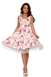 Hearts and Roses Blushing Roses Dress - Front cropped