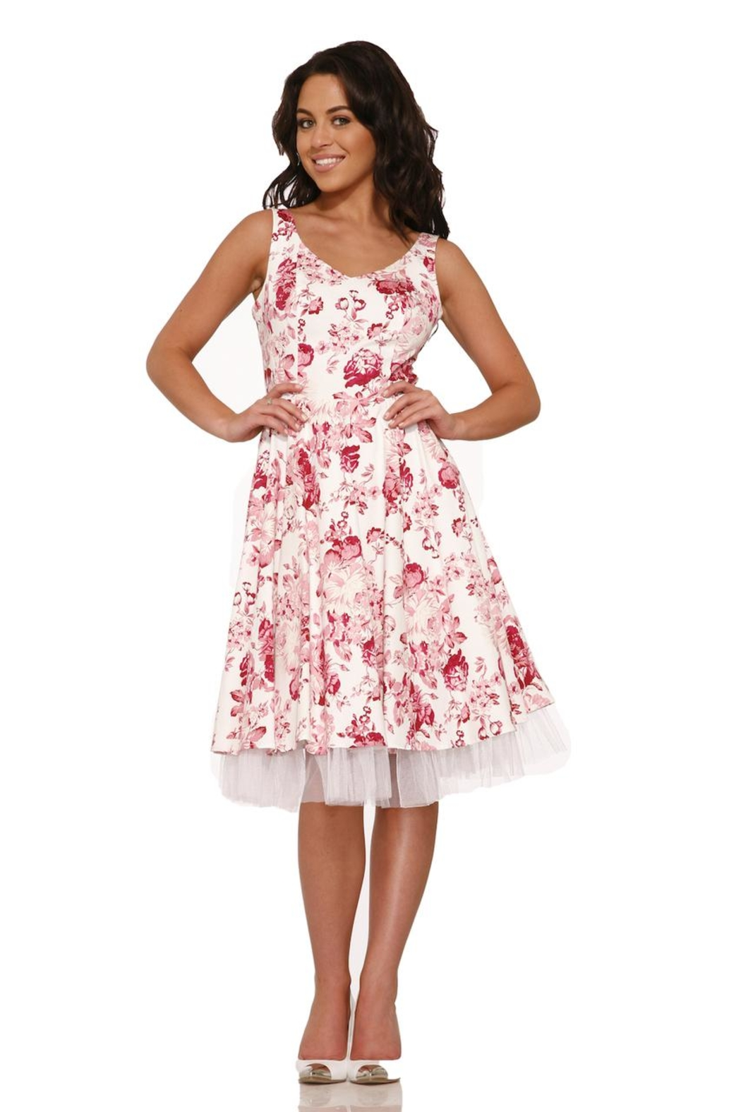 Hearts and Roses Blushing Roses Dress - Front Full Image