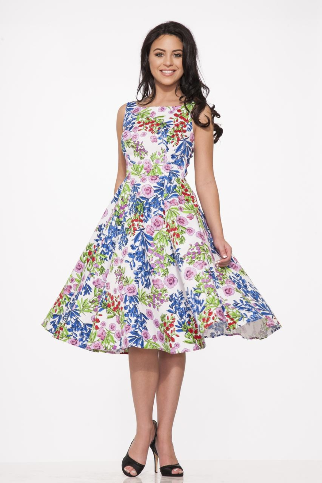 Hearts and Roses Country Garden Dress - Main Image