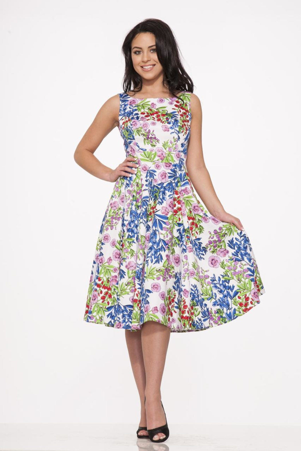 Hearts and Roses Country Garden Dress - Front Full Image