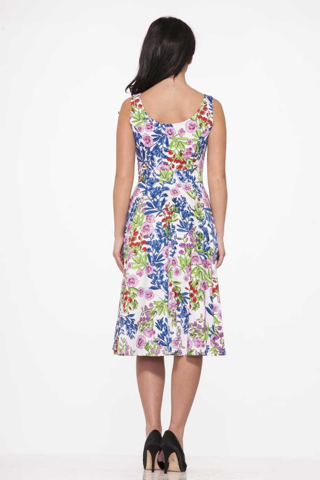 Hearts and Roses Country Garden Dress - Side Cropped Image