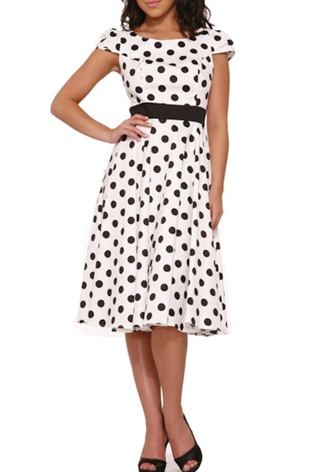 Hearts and Roses Dancing Polka Dots - Front Full Image