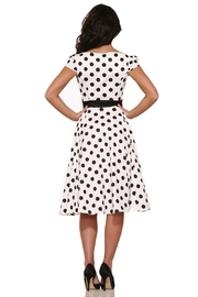 Hearts and Roses Dancing Polka Dots - Side cropped